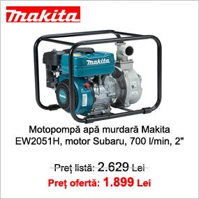 "Motopompa apa murdara Makita EW2051H, motor Subaru 5.7 CP, benzina, 700 l/min, 2"""