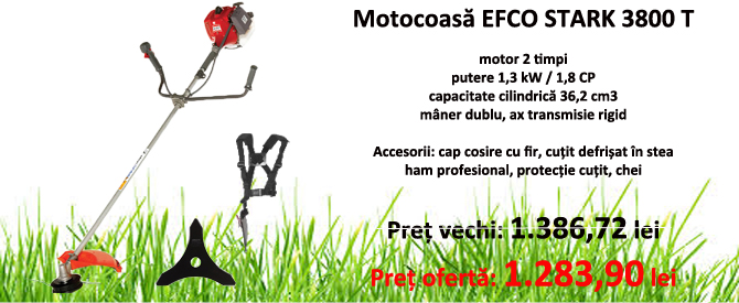Motocoasa Efco STARK 38 T, motor 2 timpi, 1.8 CP, 36.2 cm3