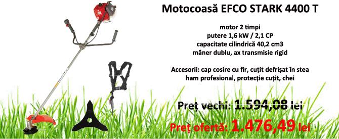 Motocoasa Efco STARK 44 T, motor 2 timpi, 2.1 CP, 40.2 cm3