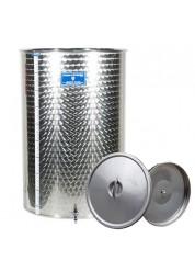 Cisterna inox cu capac flotant cu ulei Marchisio SPO500, 500 L