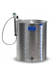 Cisterna inox cu capac flotant cu garnitura Marchisio SPA300, 300 L