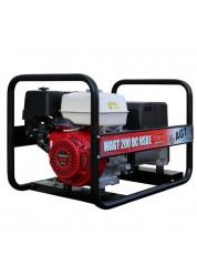 Generator de sudura AGT WAGT 200 DC HSBE, 4 kVA, monofazat, benzina, max. 200 A, pornire electrica