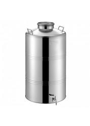 "Bidon inox MetalBox 100 L, capac de siguranta Airtight, robinet 1/2"""