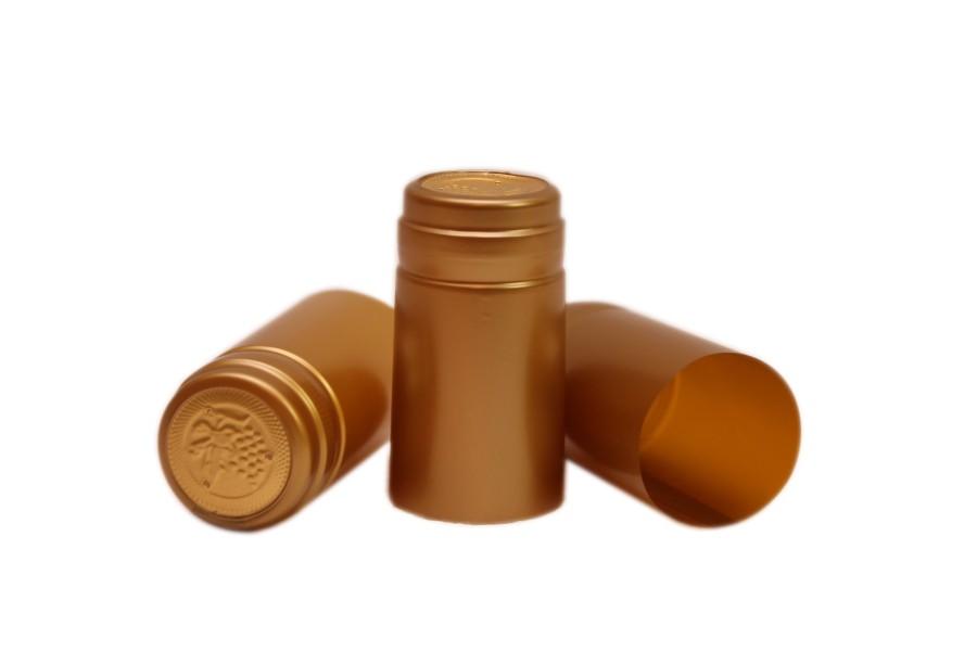 Capisoane termocontractibile PVC 31 x 60 mm - auriu