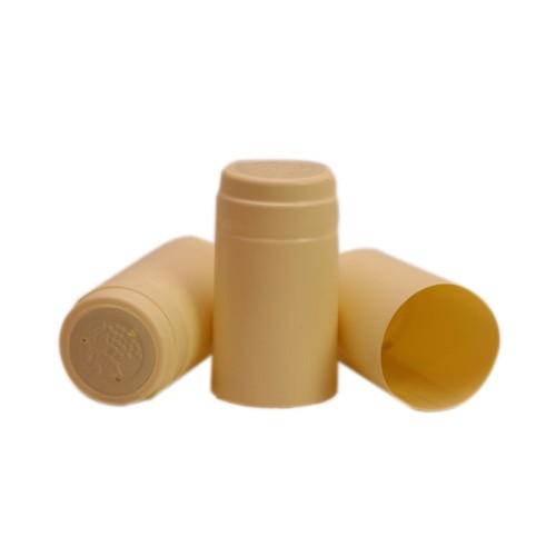Capisoane termocontractibile PVC 31 x 60 mm - crem