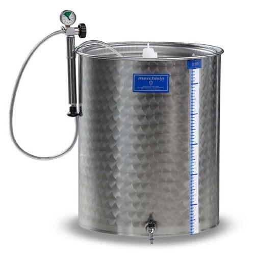 Cisterna inox cu capac flotant cu garnitura Marchisio SPA750, 750 L