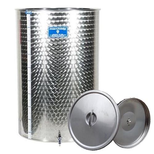 Cisterna inox Marchisio SPO1000, 1000 litri, capac flotant cu ulei, 1000x1300 mm