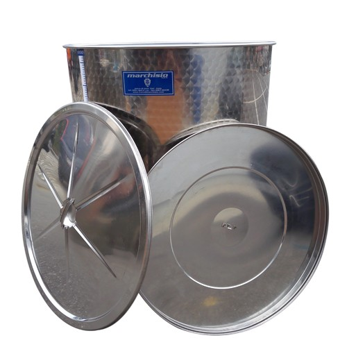 Cisterna inox cu capac flotant cu ulei Marchisio SPO1000, 1000 L