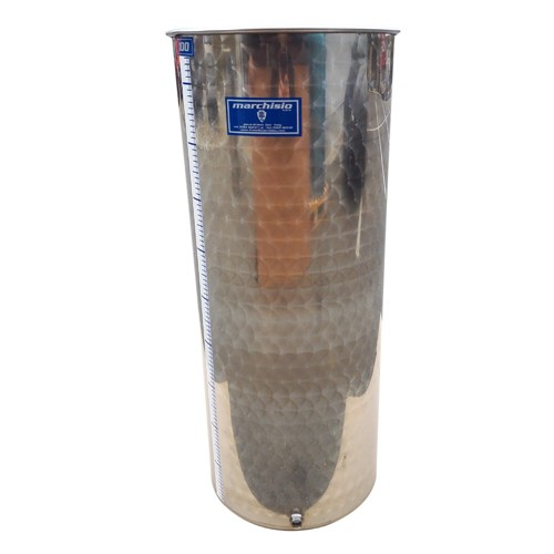 Cisterna inox Marchisio SPO100A, 100 litri, capac flotant cu ulei, 384x1000 mm