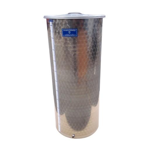 Cisterna inox cu capac flotant cu ulei Marchisio SPO200A, 200 L