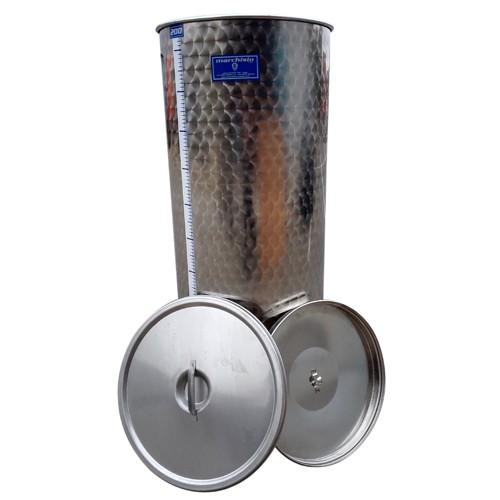 Cisterna inox Marchisio SPO200B, 200 litri, capac flotant cu ulei, 650x650 mm