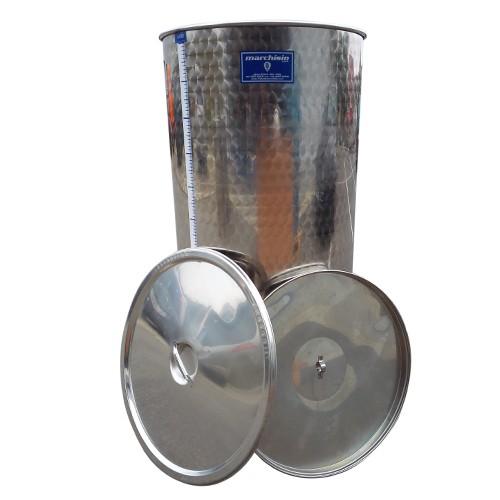 Cisterna inox cu capac flotant cu ulei Marchisio SPO400A, 400 L