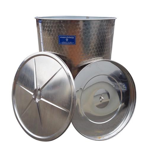 Cisterna inox Marchisio SPO500, 500 litri, capac flotant cu ulei, 790x1100 mm