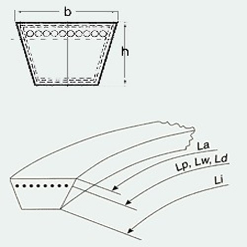 Curea trapezoidala Rubena Z 730 Lw / 10x710 Li / Z 28 EL