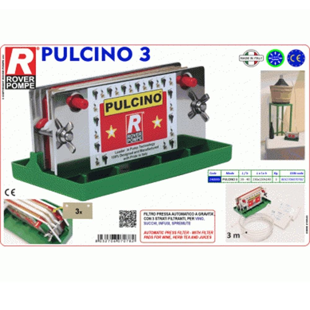 Filtru de vin manual Rover PULCINO 3, 3 placi 20x10 cm, 20-40 l/h