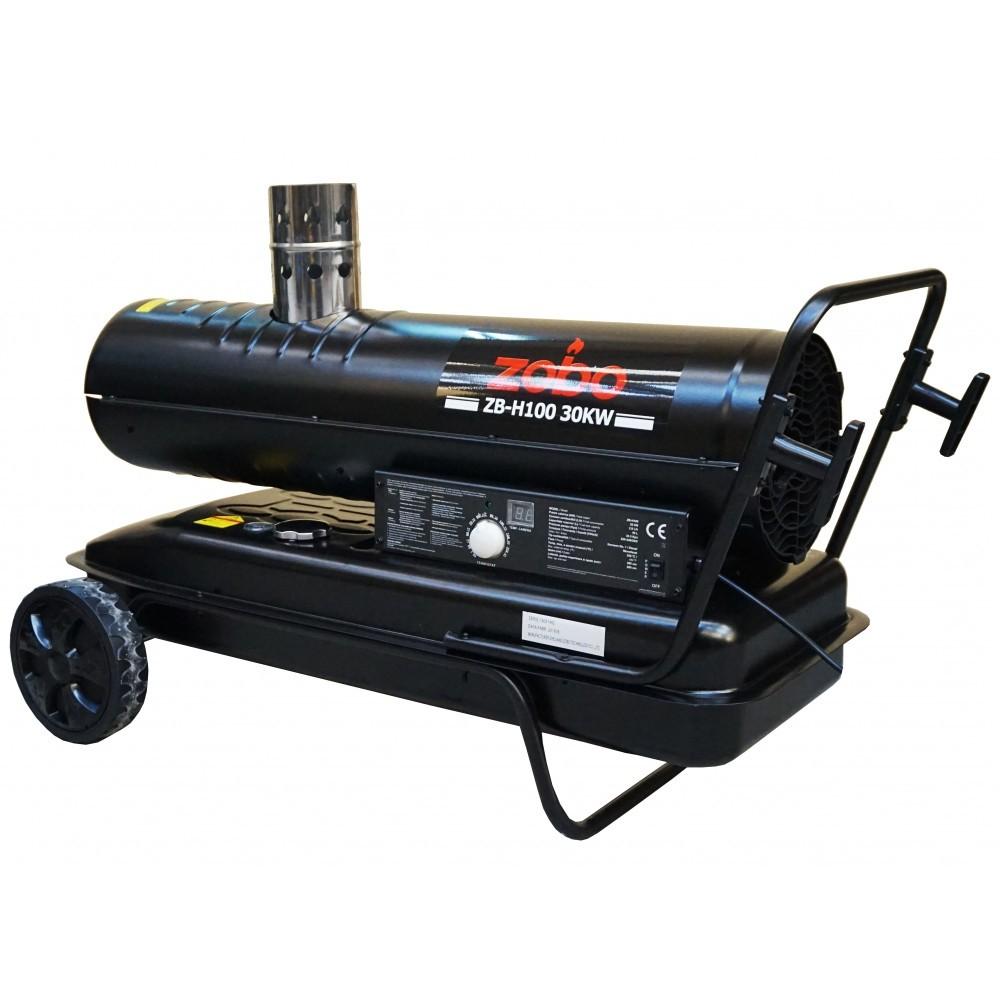 Generator de aer cald, pe motorina, ardere indirecta, Zobo ZB-H100, 30 kW, rezervor 50 L