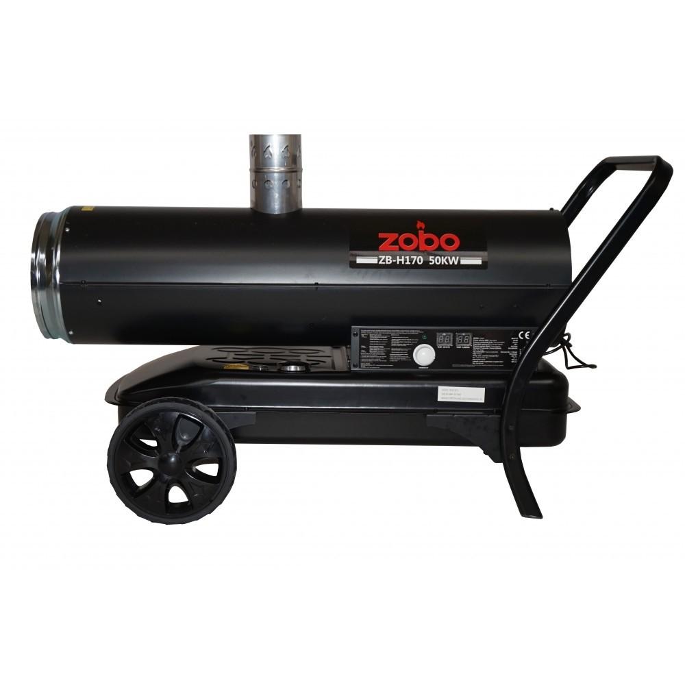 Generator de aer cald, pe motorina, ardere indirecta, Zobo ZB-H170, 50 kW, rezervor 50 L
