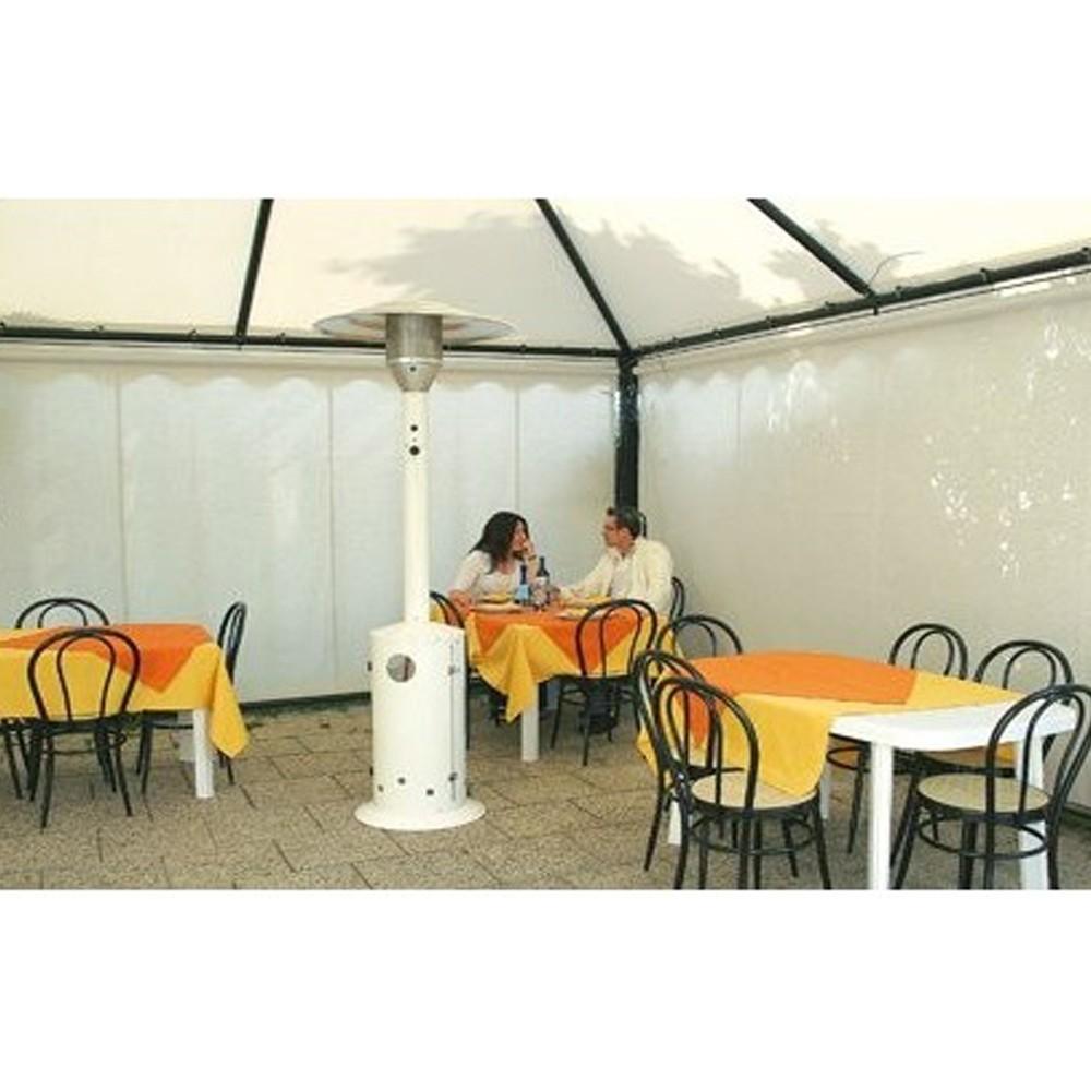 Incalzitor de terasa pe GPL Calore BRASILIA MB, 13 kW, alb