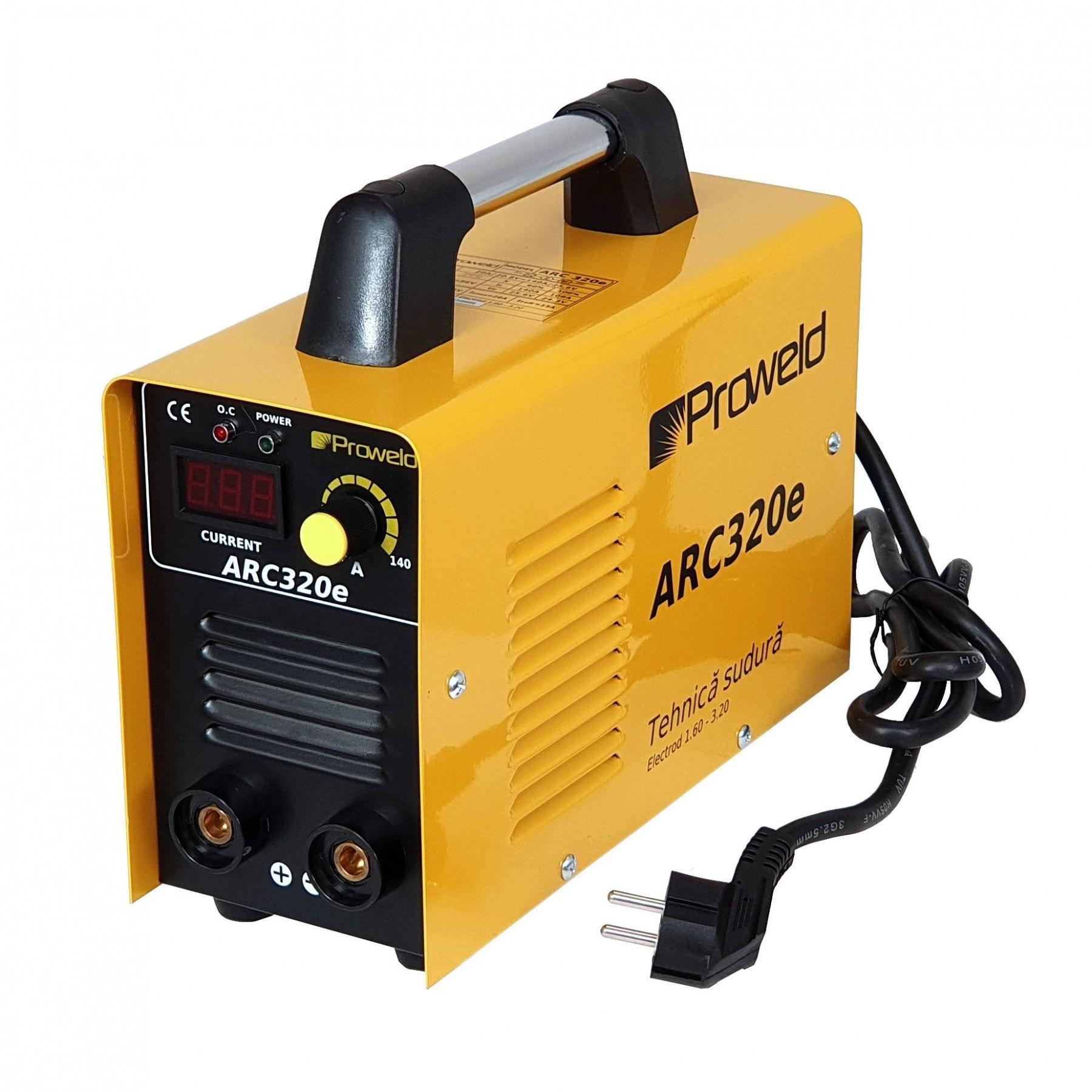 Invertor de sudura ProWELD ARC320e, 230 V, 20-140 A, electrod max. 3.2 mm, valiza transport
