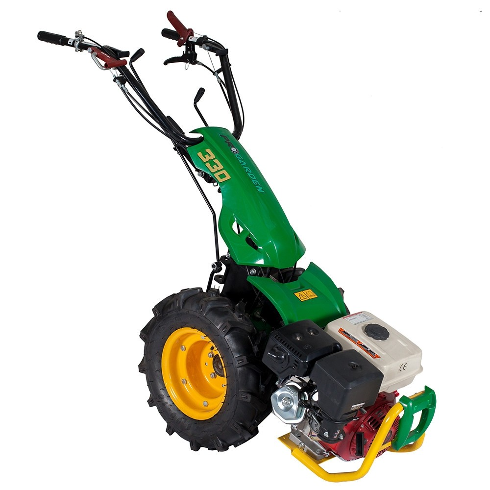 Pachet Motocultor multifunctional ProGarden BT330/G188, 14 CP, benzina + Bara de cosire 120 cm + Ulei motor + Ulei transmisie