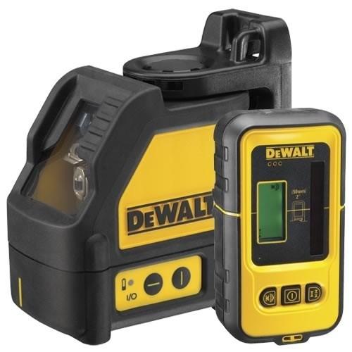 Nivela laser cu 2 linii DeWALT DW088KD + Detector DE0892