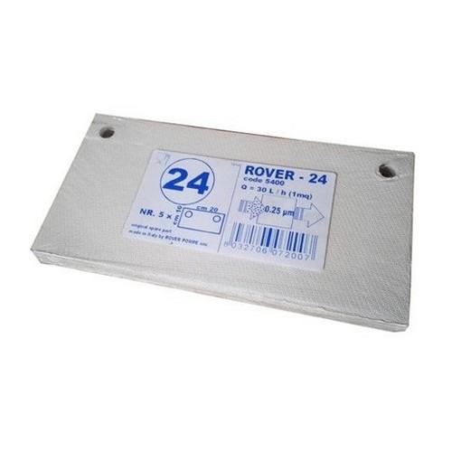 Placi filtrante 20x10 cm ROVER 24, filtrare super-fina
