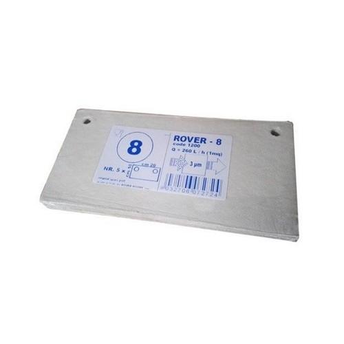 Set 5 placi filtrante 20x10 cm ROVER 8, degrosare de clarifiere