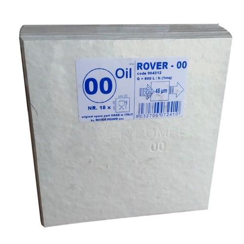 Set 18 placi filtrante 20x20 cm ROVER 00 Oil, degrosare ulei