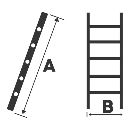 Scara simpla aluminiu Bisonte STR111, 11 trepte, 3.00 m