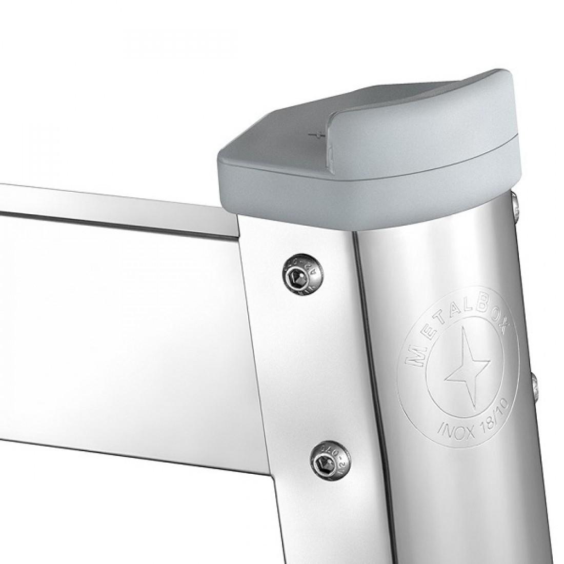 Trepied inox cu protectii din plastic MetalBox SB-38, 380 mm