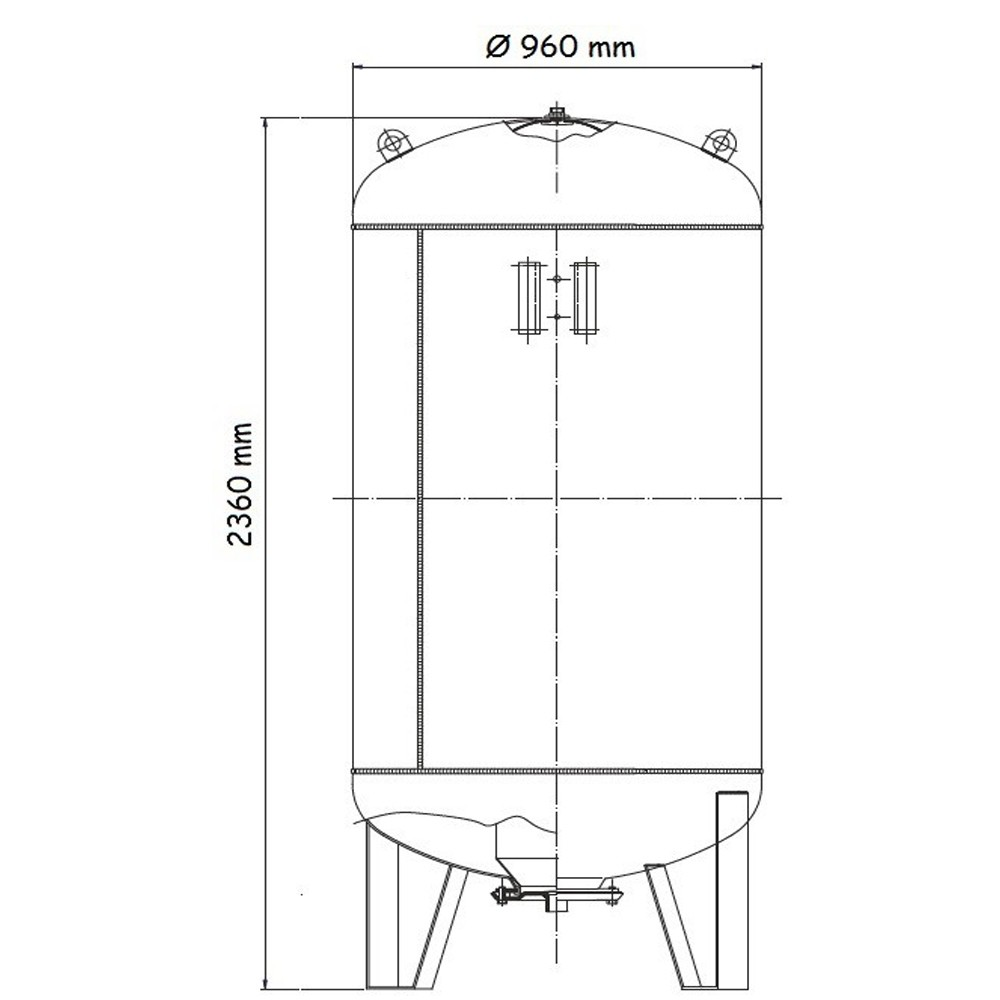 Vas de expansiune pentru apa rece, 1500 l, Aquasystem VAV1500