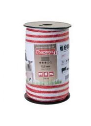 Banda pentru gard 12.5 mm, 4 x 0.20 mm, 4.56 ohm/m, 125 kg, 200 m