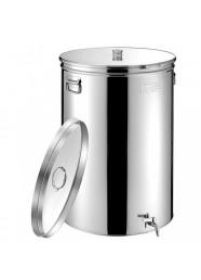 Cisterna inox MetalBox 220 litri + capac antipraf, capac flotant cu ulei, 585x835 mm