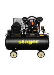 Compresor de aer Stager HMV0.6/200-10, 400 V, 4.1 kW, 600 L/min, 10 bar, 200 L