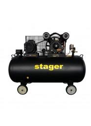 Compresor de aer Stager HMV0.6/370-10, 400 V, 4.1 kW, 600 L/min, 10 bar, 370 L