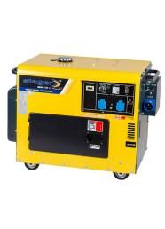 Generator de curent insonorizat, monofazat STAGER DG 5500S+ATS, 5 kW, diesel, pornire electrica, Automatizare