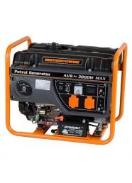 Generator de curent electric Stager GG 3400E, 3000 W, monofazat, benzina, pornire electrica