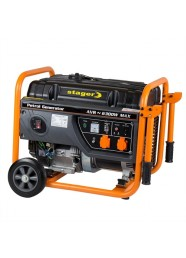 Generator de curent electric Stager GG 7300W, 6300 W, monofazat, benzina