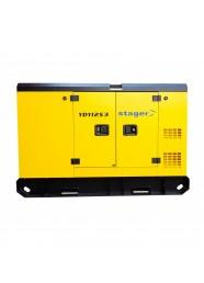 Generator de curent insonorizat, trifazat STAGER YDY12S3, 12 kVA, diesel, 1500 rpm