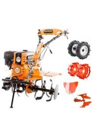 Motocultor pe benzina Ruris 751KS, 8.5 CP, 3 viteze, latime lucru 90 cm + accesorii
