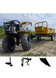 Pachet motosapa ProGarden Campo 753 + remorca 400 kg, plug de arat, prasitoare, plug de bilonat