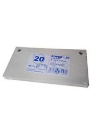 Set 5 placi filtrante 20x10 cm ROVER 20, filtrare fina