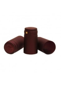 Capisoane termocontractibile PVC 31 x 60 mm - Visiniu