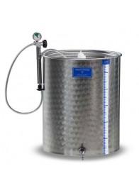 Cisterna inox cu capac flotant cu garnitura Marchisio SPA600, 600 L
