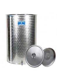 Cisterna inox Marchisio SPO400A, 400 litri, capac flotant cu ulei, 650x1300 mm