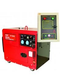 Generator de curent monofazat SENCI SC-7500Q, 6 kVA, diesel, pornire electrica, Automatizare