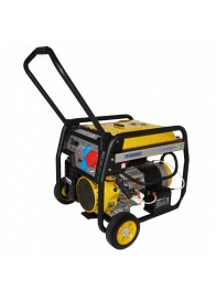 Generator de curent electric Stager FD 10000E3, 8500 W, trifazat, benzina, pornire electrica