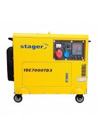 Generator de curent insonorizat, trifazat STAGER YDE7000TD3, 5.7 kVA, diesel