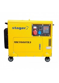 Generator de curent electric Stager YDE7000TD3, 5.7 kVA, trifazat, diesel, pornire electrica