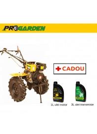 Motocultor (Motosapa) ProGARDEN HS 1100AE, 7 CP, diesel, 3 viteze, pornire electrica